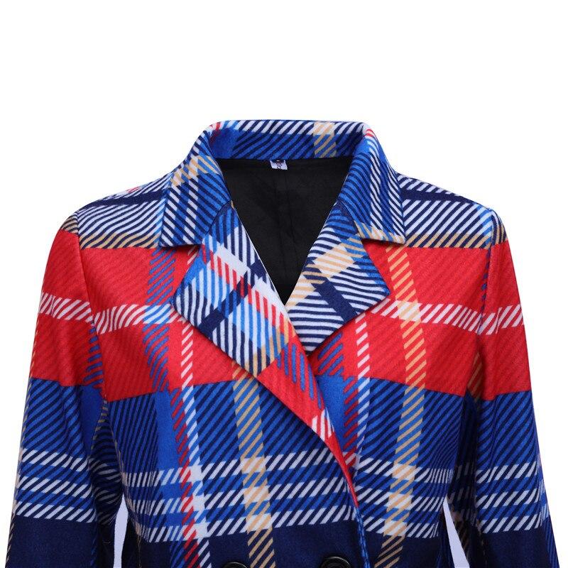 striped plaid lapels printed jackets 3