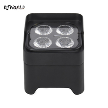 DJworld 4x18W RGBWA UV LED Uplight Batterie Drahtlose Par Licht Wifi & IR Fernbedienung DMX Uplighting DJ Waschen Disco Hochzeit Bühne
