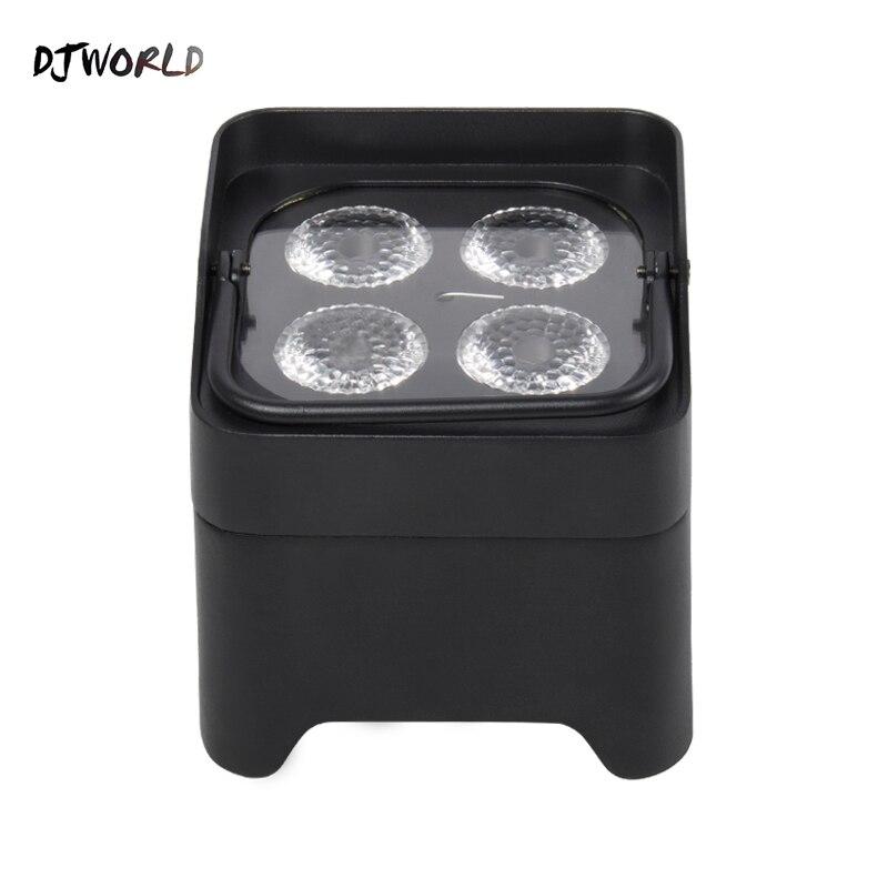 DJworld 4x18W RGBWA UV LED Uplight Battery Wireless Par Light Wifi&IR Remote Control DMX Uplighting DJ Wash Disco Wedding Stage
