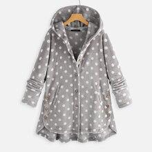 Jackets Coats Outerwear Long-Sleeve ZANZEA Fleece Vintage Winter Casual Button Regular