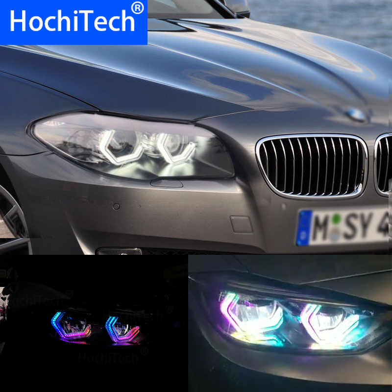 RGBW Multi Color ICONIC M4 Style Crystal Angel Eyes Kit Day Light DRL for BMW 5 Series F10 XENON 535i 550i 520i 535i 528i 520d d