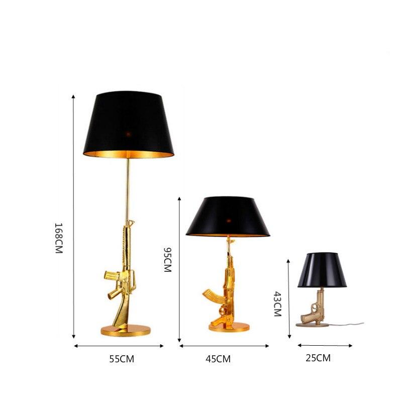 Itália arma lâmpada criativa candeeiros de mesa