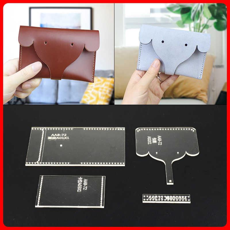 1 ensemble bricolage manuel cuir plaque dessin acrylique modèle éléphant changement carte sac sac à main modèle moule
