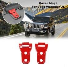 4x Передняя крышка капота двигателя петля Отделка Декор подходит для Jeep Wrangler JL красный
