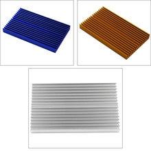 Синий алюминиевый радиатор охлаждения теплоотвода чип теплораспределитель