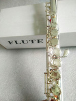 Flute High quality silver flute FL211SL Model musical instrument Flute 16 on C Tuning and E Key professional free music Flute