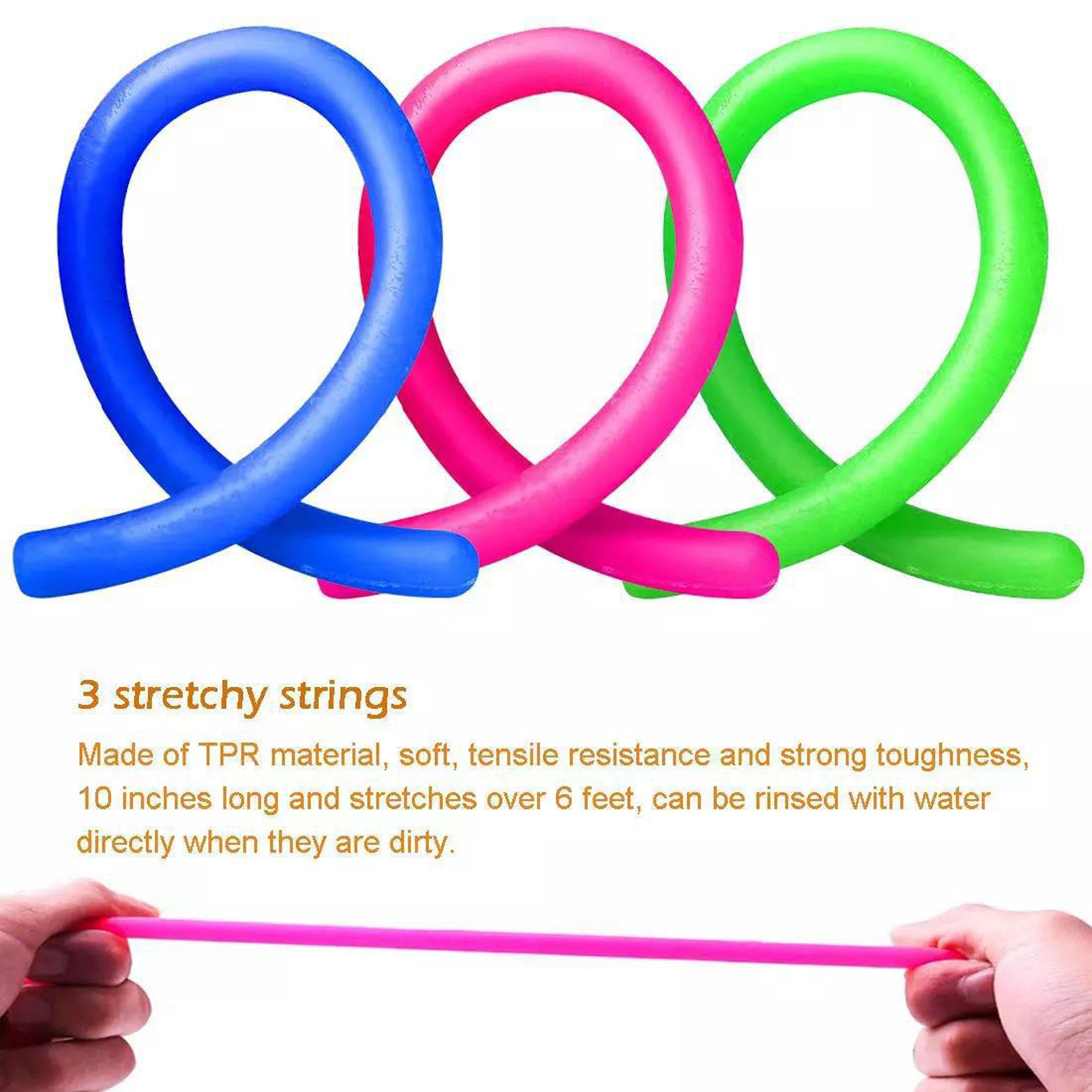 Toys Decompressive Push-Ball Stress-Relieving Strings Sensory-Toy-Set Squeezing Stretch img2