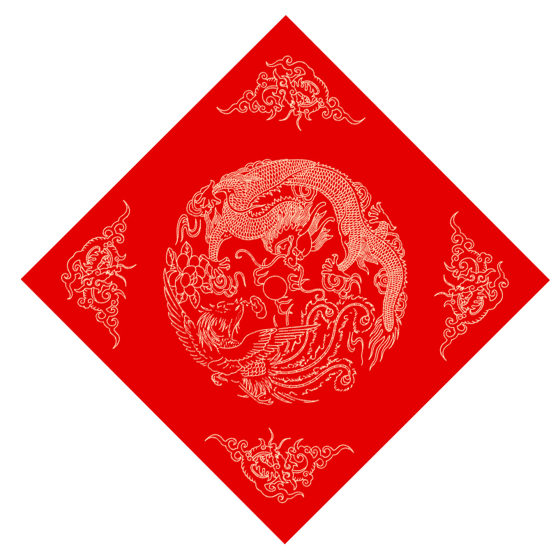Chinese Spring Festival Couplets Red Xuan Paper Square Shaped Batik Rice Paper Calligraphy Copy Paper Fu Characters Rijstpapier