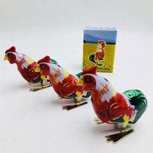 Ностальгический ретро полностью ручной работы Algam петух цепь прыгающий цыпленок 80 после коллекции Весна оловянные игрушки