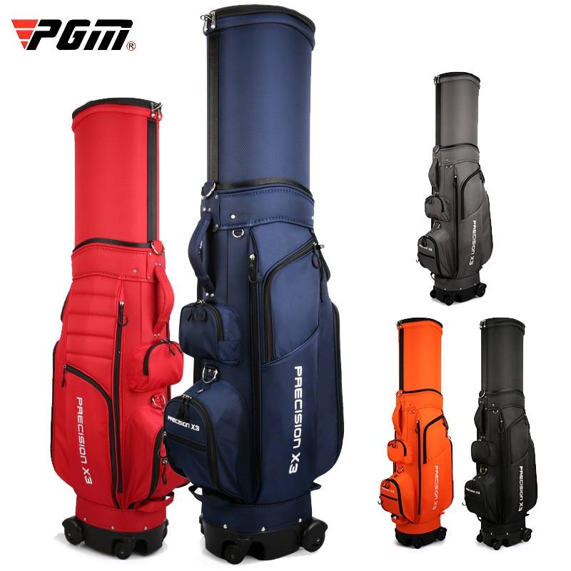 Adjustable Golf Standard Ball Bag Wheels Golf Bag Multi-Function Airbag Waterproof With Brakes Universal Four Wheel D0848