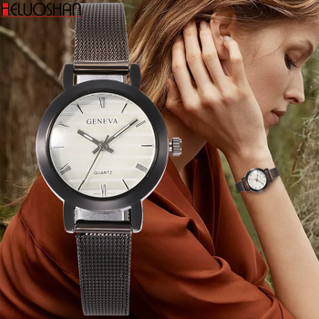 цена Women's Watch Ultra Thin Stainless Steel Quartz Watch Lady Casual Hours Bracelet Watches Women Lovers Female Clock Gift relogios онлайн в 2017 году