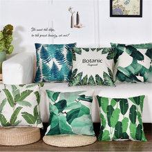 45х45 см тропические растения листья пальмы зеленые monstera