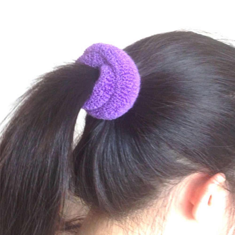 1/12 Pcs Wanita Rambut Cincin Tali Lebar Tebal Hairband Elastis Band Permen Ekor Kuda Pemegang Katun Gadis Anak Perhiasan aksesori