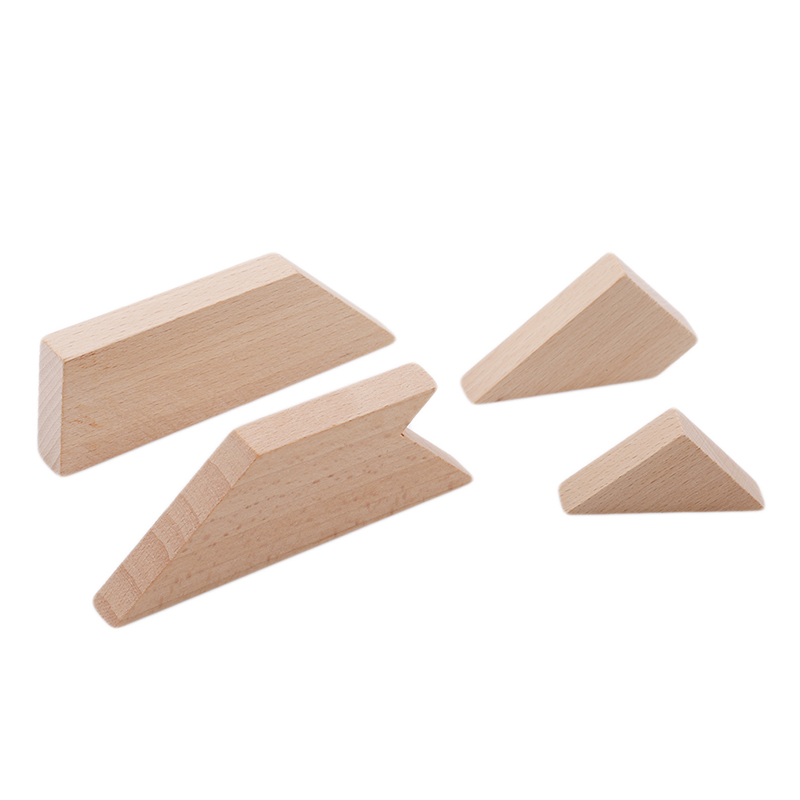 2019 New T- Shaped Mystery Intellectual Wooden Puzzle Funny Wooden Puzzle Toys For Infant Kids Childern Early Educational Toys