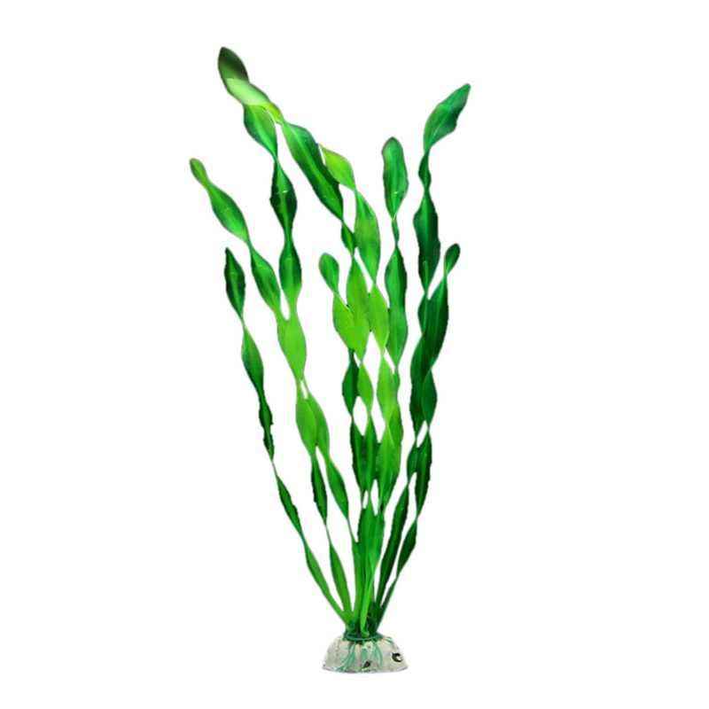Planta de simulação luminosa suprimentos de aquário tanque de peixes paisagismo decoração falso grama de água flor de plástico algas marinhas novo