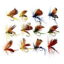 Sougayilang sinek balıkçılık kanca 12 adet/takım kelebek tarzı sinek balıkçılık ekipmanları yem yapay balıkçılık cazibesi olta takımı