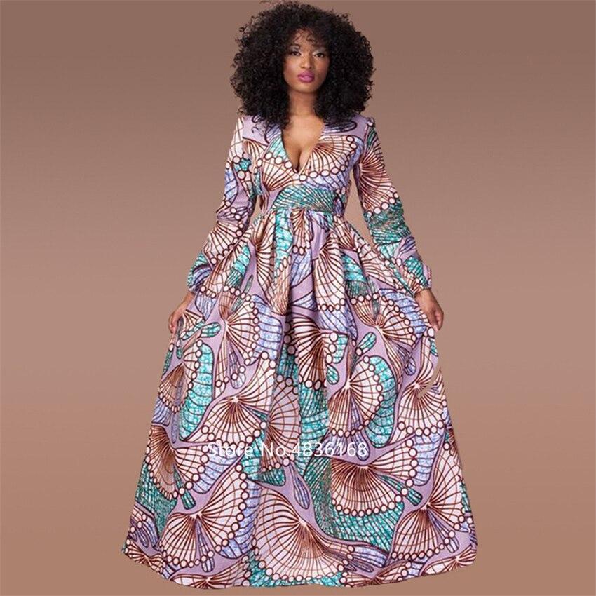 @Kasi V neck african dress 2