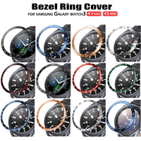 Bezel Ring Styling Frame Case for Samsung Galaxy Watch 3 41mm 45mm Bracelet Stainless Steel Cover Anti-scratch Protection Ring