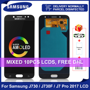 5.5'' SUPER AMOLED For SAMSUNG Galaxy J7 Pro 2017 LCD Display J730 J730F Touch Screen Digitizer For SM-J730F Replacement parts