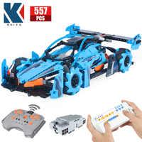 KAIYU-coche de carreras con Control remoto para niños, vehículo de bloques de construcción con rotación de 360 °