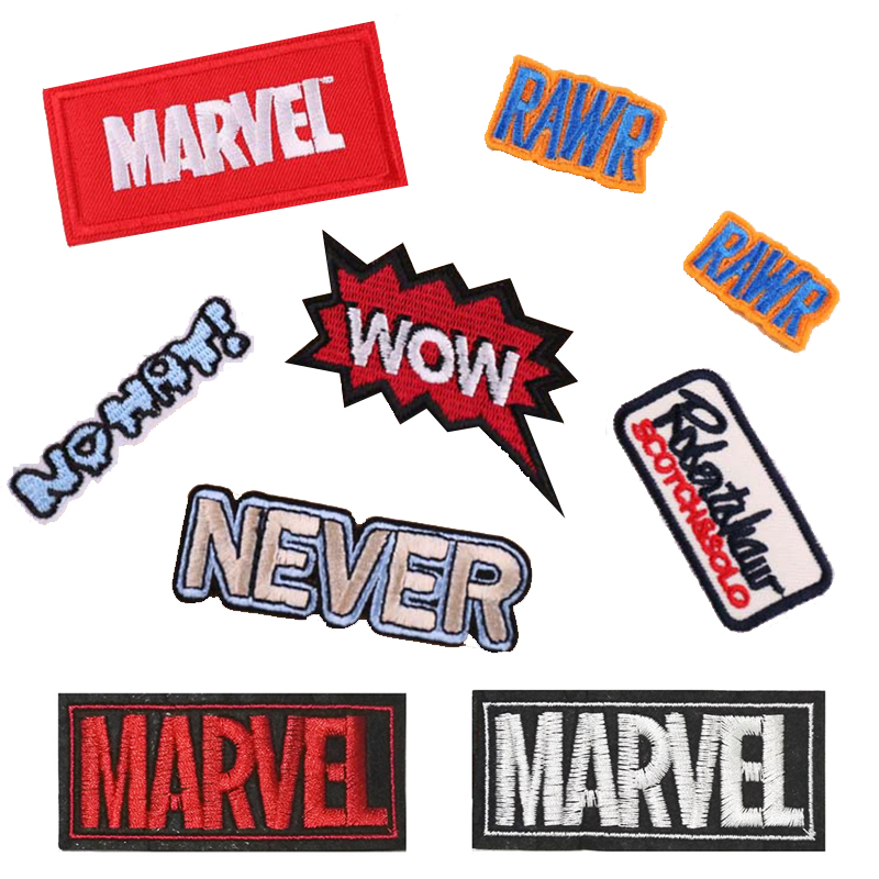 Computer embroidery <font><b>patches</b></font> <font><b>Marvels</b></font> chapter fashion DIY English logo badges <font><b>clothing</b></font> <font><b>patch</b></font> image