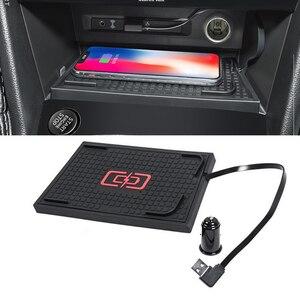 Image 1 - Voor Vw Tiguan MK2 Tiguan Allspace Tharu 2017 2018 2019 10W Auto Qi Draadloze Opladen Telefoon Oplader Opladen Plaat opladen Houder