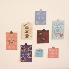 Śliczne ciasto miłość karta mały plakat prosty zapisywalny dekoracyjny wodoodporny kartka z życzeniami Album DIY pamiętnik piśmienne Ins gorące karty