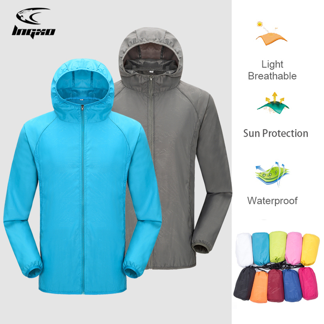 Camping Rain Jacket Men Women Waterproof Sun Protection Clothing Fishing Hunting Clothes Quick Dry Skin Windbreaker With Pocket 1