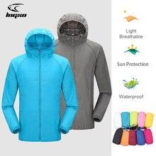 Camping Regen Jacke Männer Frauen Wasserdichte Sonnenschutz Kleidung Angeln Jagd Kleidung Schnell Trockene Haut Windjacke Mit Tasche