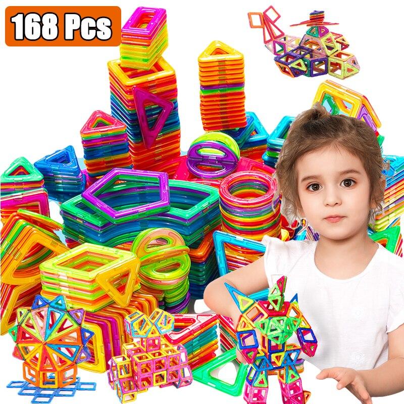 Manyetik İnşaat seti oyuncak çocuklar için eğitici oyuncaklar manyetik bloklar manyetik yapı seti MagnetsToys erkek kız için hediye