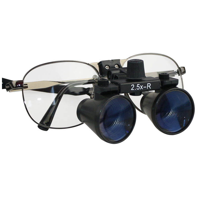 2.5X 3.5X Binocular  Metal Frame Loupe Without Light Dental Loopps Loops Dentist Loup Magnifying Glasses