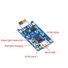 5 шт. Micro USB 5 в 1A 18650 TP4056 модуль зарядного устройства литиевой батареи зарядная плата с защитой двойные функции 1A li-ion
