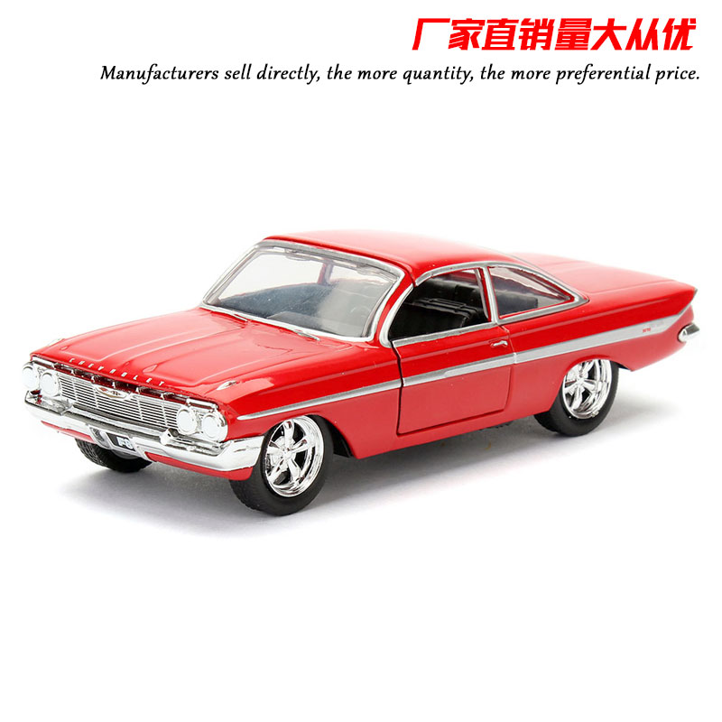 JADA 1/32 Scale Car Model Toys 1961 CHEVY IMPALA Diecast Metal Car Model Toy For Gift/Kids/Collection