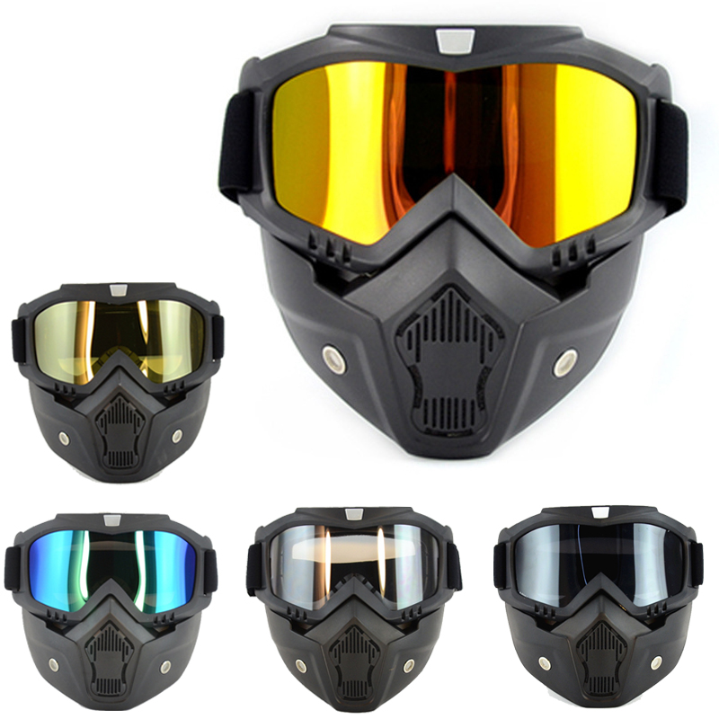 Motorcycle Goggles Off-Road Helmet Goggles Windproof Glasses Goggles Mask Goggles Ski safe mirror helmetty protective ski masks