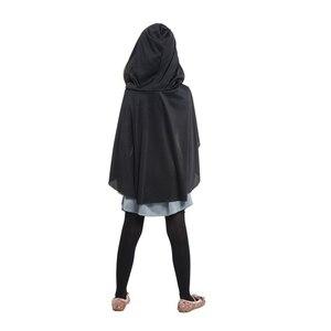 Image 5 - Детский костюм охотницы с капюшоном для девочек, средневековый Карнавальный костюм Рыцарь воин, вечерние костюмы для Хэллоуина
