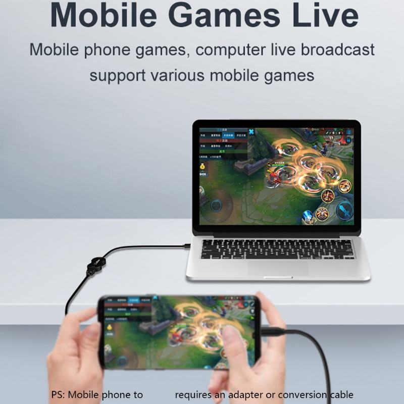 2021 New Video Capture Card Game Live Capture Box USB2.0 to HDMI-compatibe 1080p 30fps