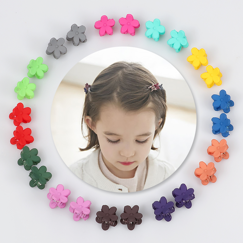 10 pcs Cute girl flower Small Hair clip child cute candy color hair Headband children fashion accessories