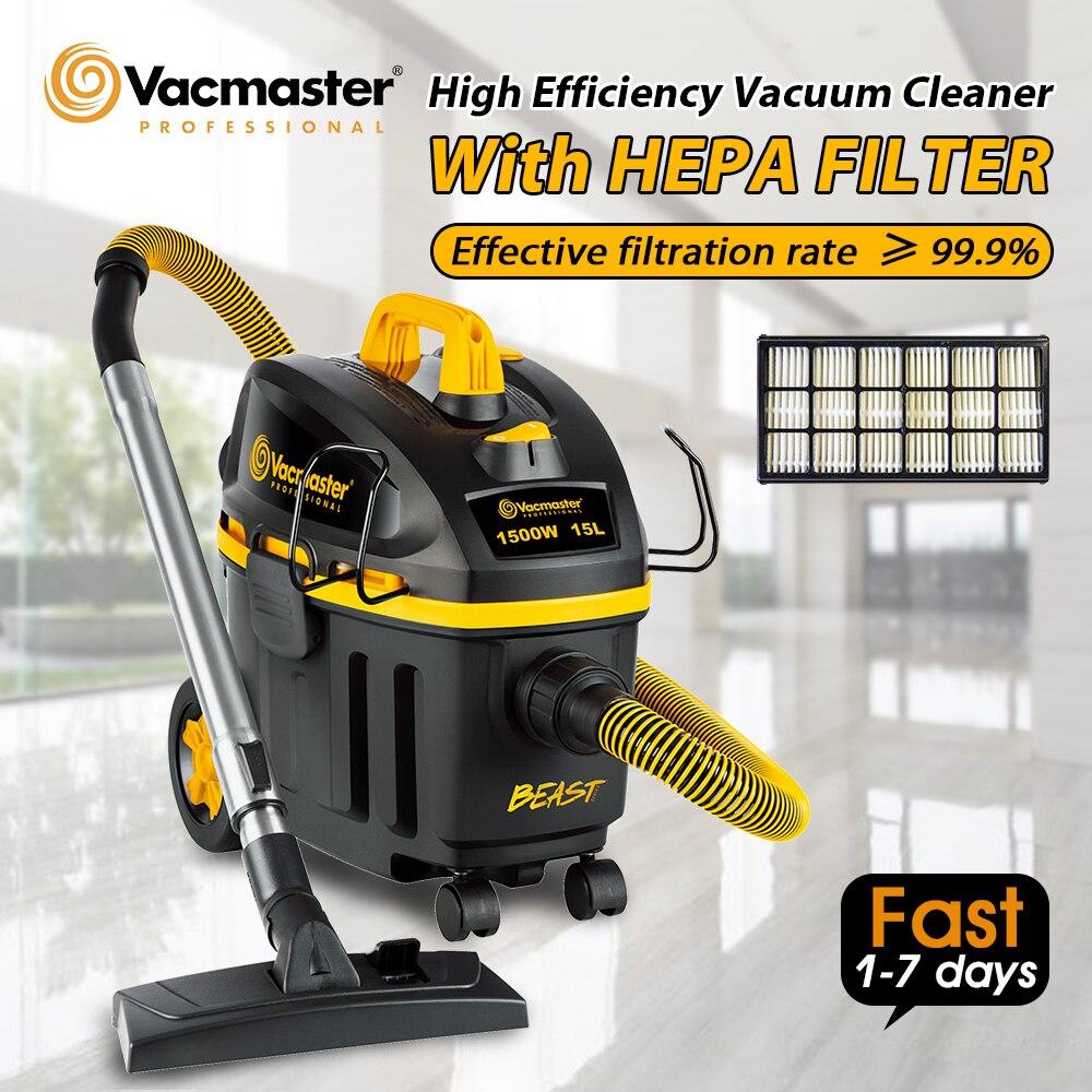 Vacmaster 2020 مكنسة كهربائية جديدة تنظيف المنزل 1500 واط الرطب الجاف المكانس مجمع الغبار مع فلتر HEPA سلك الطاقة 5 مترمكانس كهربائية   -