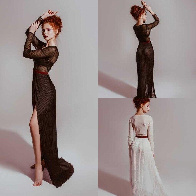 Illusion 2019 Wedding Dress Formal Women Robe Nightgown Sleepwear Bathrobe Pajamas Long Sleeve Special Prom Bridesmaid Shawel