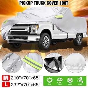 Cover Pickup Trucks Uv-Protection Sun-Snow Waterproof Indoor for Dust-Resistant Silver