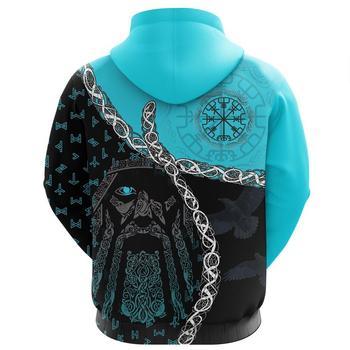 Viking hoodies Odin Norse Helm of Awe 3D Printed Men women Zip Up Hoodie Tattoo Harajuku Streetwear Pullover Casual Tracksuits 2