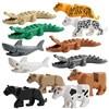 Animal Lockings Figures Assemble Building Bricks Animals Tiger leopard Elephant Wolf Shark Polar bear Whale Blocks Kids Toys