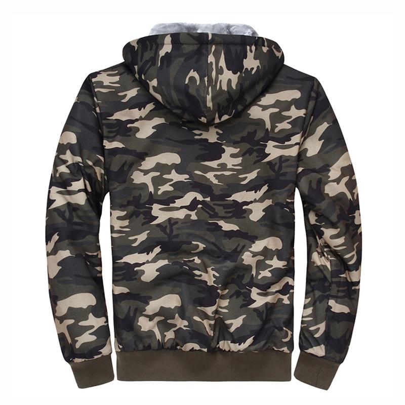 2019 зимняя мужская куртка с капюшоном, повседневные толстовки камуфляжной расцветки, мужская спортивная одежда, флисовая камуфляжная тепла... - 2