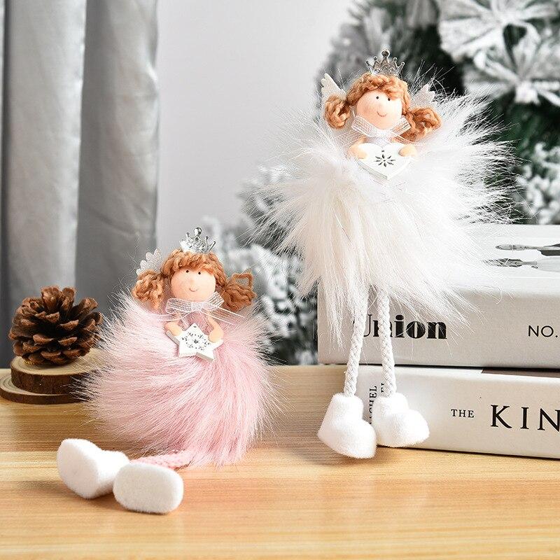 Creative Long Hair Angel Long Leg Pendant Cute Doll Little Angel Christmas Tree Hanging Pieces Christmas Decoration Supplies