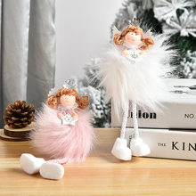 Creative Long Hair Angel Long Leg Pendant Cute Doll Little Angel Christmas Tree Hanging Pieces Christmas Decoration Supplies