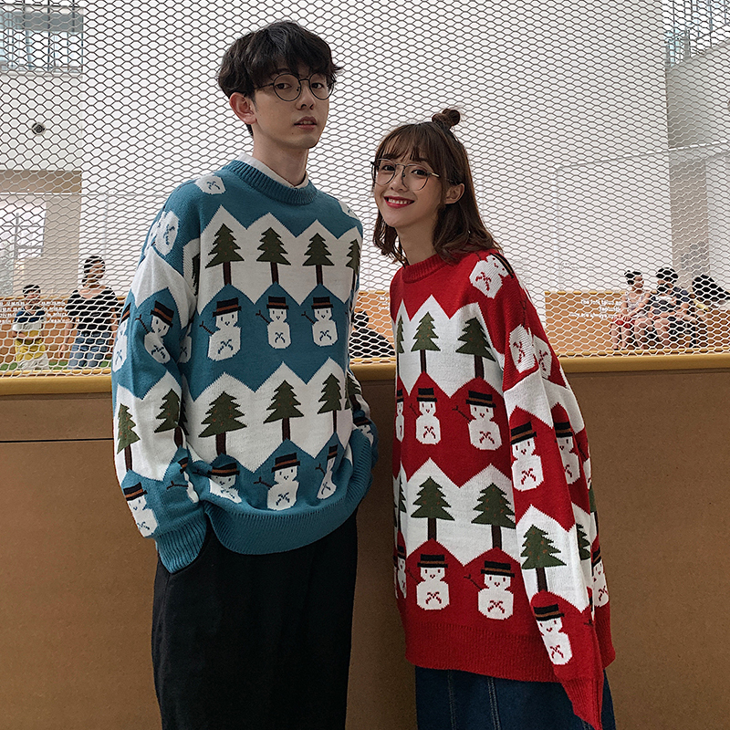 Knitted Sweater Men Merry Christmas Sweater Winter Clothes Men/Women New Sweater For Men 2019 Men's Pullover Big Size Sweaters