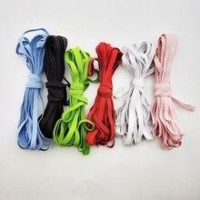 5/10 yards 6mm bandas elásticas planas coloridas banda de goma de alta elasticidad cinta de poliéster accesorios de costura de la ropa