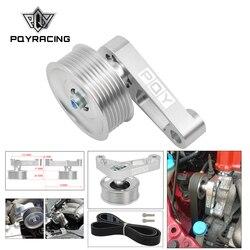 PQY-Kit de polea EP3 ajustable para motores Honda 8th 9th Civic All K20 y K24 con tensor automático mantener A/C instalado CPY01/02
