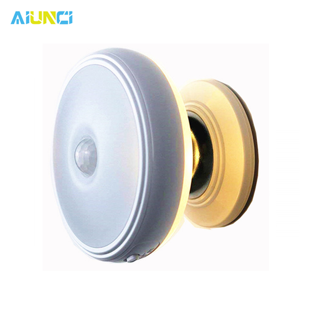 Star Rain Motion Sensor Light 360 Degree Rotating Rechargeable Magnetic LED Night Light Wall Lamp For Stair Kitchen Toilet Light