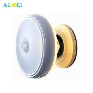 Image 1 - Star Rain Motion Sensor light 360 Degree Rotating Rechargeable Magnetic LED Night Light Wall lamp for Stair Kitchen toilet light
